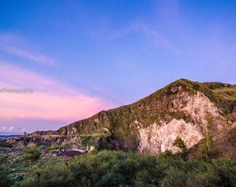 Sunrise in Bali,instant download photography,volcano in Indonesia,Bali landscape picture,mountains wall decor,sunrise home decor,blue pink
