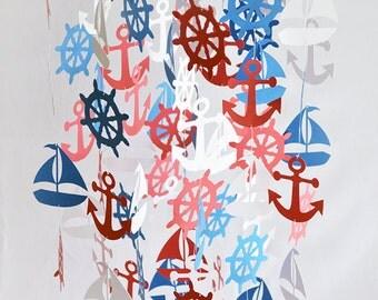 Nautical Mobile - Baby Mobile - Nautical Nursery - Nautical Nursery Decor - Nursery Mobile - Baby Boy Nursery - Baby Girl Nursery - Nursery