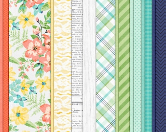 Let's Go Outside - Spring Digital Papers - 12 x 12 - Scrapbooking Pack - Perfect for Easter Crafts!
