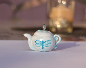 Cute Dragonfly Tea-pot Keychain