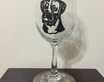 Boxer Wine Glass or Pilsner Glass