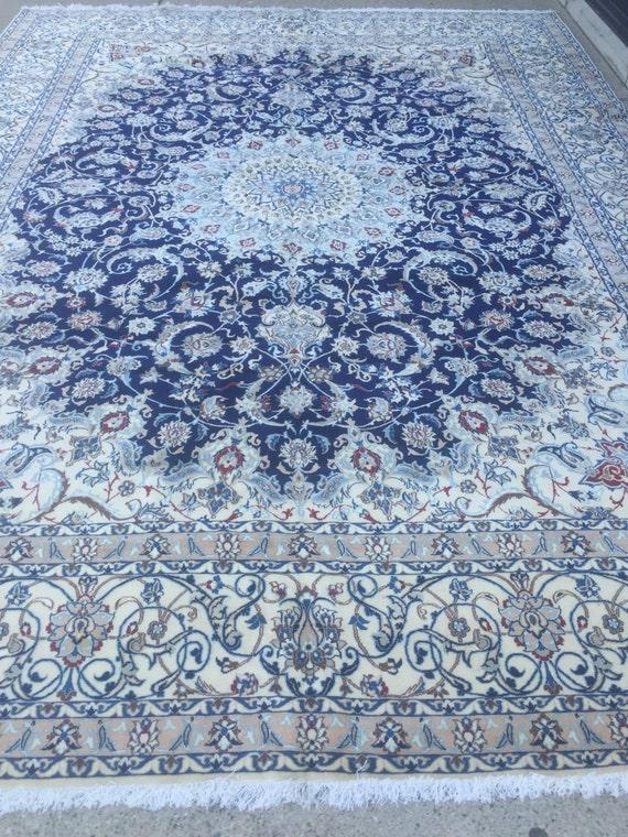 "10'6"" x 14'4"" Persian Nain Oriental Rug - 400 KPSI - Fine - Wool & Silk Pile - Hand Made"