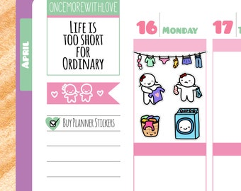 Munchkins - Laundry Banner and Laundry Chores Planner Stickers (M30)