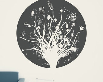 Abstract Bouquet Wall Decal