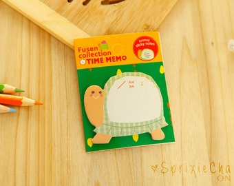 Mini Turtle Sticky Notes / Cute Kawaii Animal Sticky Notes / Stationery / Stationary / School Supplies / Memo Pad / Bookmark / Small Notes