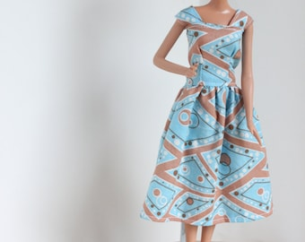 Barbie Clothes, Barbie Dress, Blue Barbie dress, kayleesboutique03