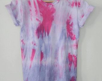 Tie Dye T-Shirt acid wash T-shirt hipster 90s festival grunge Retro 80s indie dip dye men women unisex rave skate top