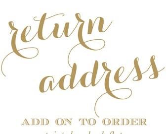 Add return address printing on back flap
