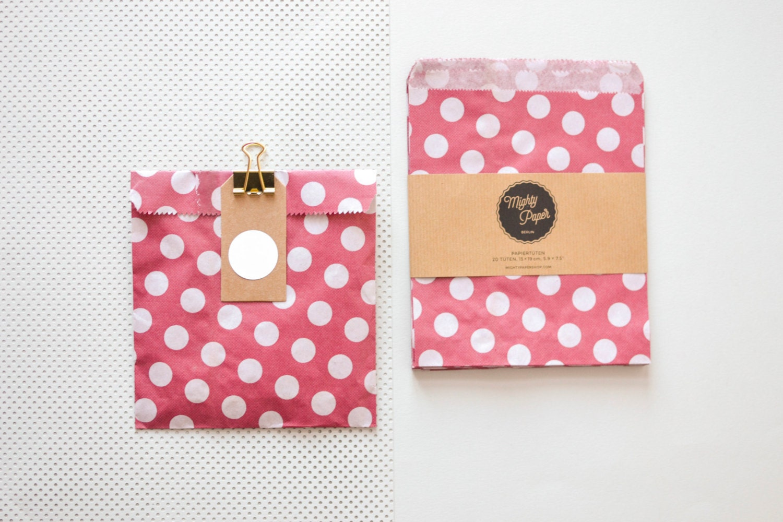 Wedding Favor Bags Paper : 20 Polka Dots Paper Bags Favor Bags Wedding Favor Bags Candy