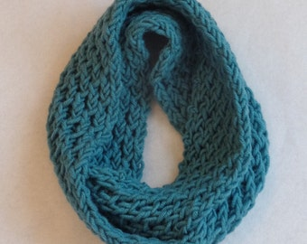 Teal Honeycomb Infinity Cowl
