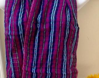 Handmade Woven Scarf Wool-Cotton Blend Men or Women