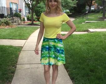 Summer Skirt / Knee Length Skirt / Colorful Skirt