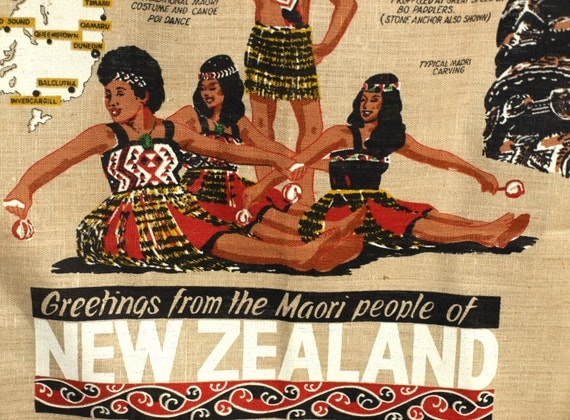 Maori Greeting New Zealand: Greetings From The Maori People Of New Zealand Pure Linen