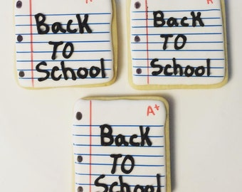 Back to school decorated sugar cookies