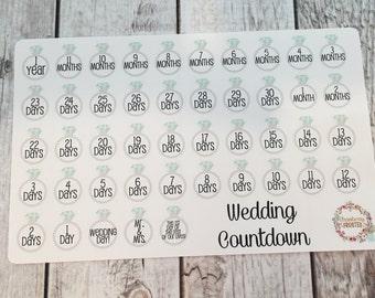 Wedding Countdown Planner Stickers-