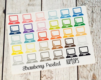 Laptop Planner Stickers - Made to fit Vertical or Horizontal Layout