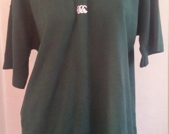 CCC Canterbury Rugby Jersey, Size M, British Racing Green,Made in New Zealand