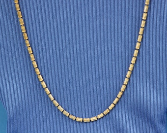 Brushed gold necklace