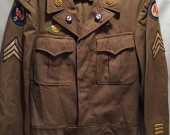 WW2 U.S Pacific Theatre/Anti-Aircraft Ike Jacket W/ DI's