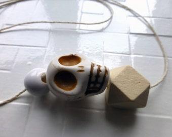 Minimalist Statement Skull Necklace