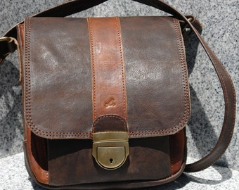 Leather Messenger bag/Manbag/Crossbody bag/Day bag
