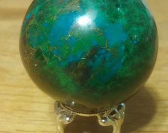 Chrysocolla Sphere with Malachite