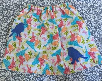 Girls Bird Skirt- Multi Color