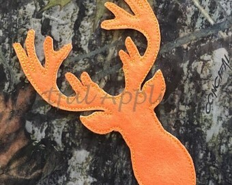 Deer Silhouette Bean Stitch Applique Design