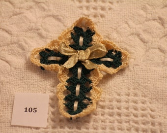 Hand Crocheted Cross 105