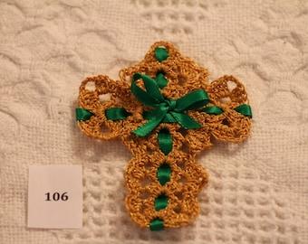 Hand Crocheted Cross 106