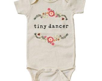 "Organic ""Tiny Dancer"" Unbleached Onesie"