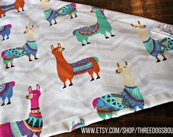 Chevron Llama Dog Bandana Cat Bandana FREE SHIPPING personalization and snap option