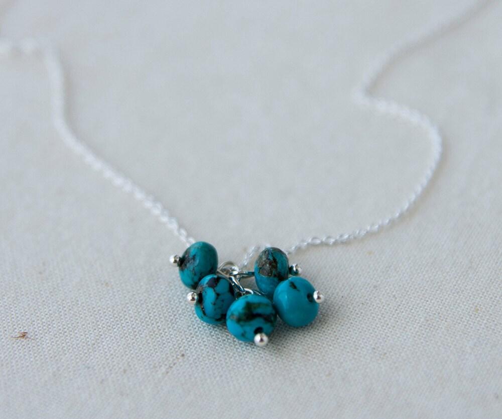 december birthstone necklace turquoise sterling silver. Black Bedroom Furniture Sets. Home Design Ideas
