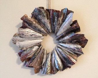 Pen Shell Wreath / Coastal Decor / Seashell Wreath