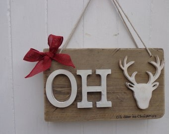 Oh deer its Christmas plaque
