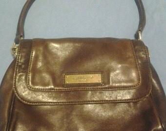 Vintage Liz Claiborne Dark Brown Leather Handbag