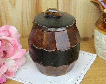 Vintage Wooden Tobacco Jar