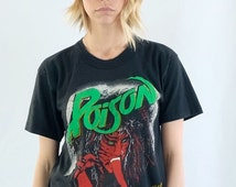 Poison Open Up And Say Ahh Vintage Concert T Shirt Unisex Medium 80's