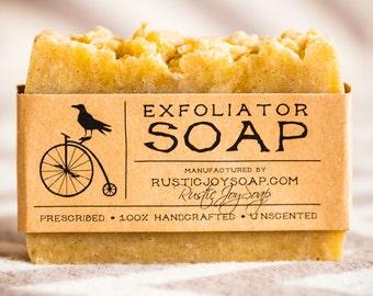 Exfoliator Soap - Аcne Soap, All Natural Soap, Handmade Soap, Jojoba Soap, Homemade Soap, Unscented Soap, Scrab soap