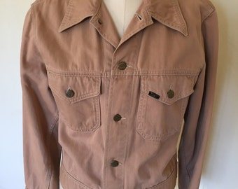 1970s Lee Soft Denim Jacket, Tan, Medium