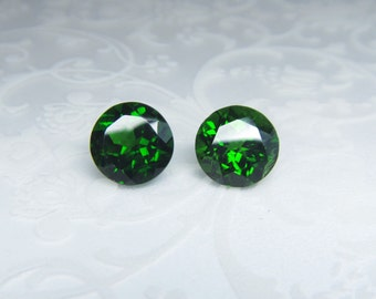 Russian Chrome Diopside 8mm pair 4,30 ct rare