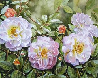 Custom Watercolor Flower Paintings. Custom Floral Painting. Commission Painting. Photo to Painting. Gift for Gardener. Custom Floral Art.