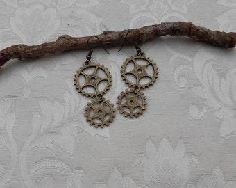 """Earrings """"Steampunk"""""""