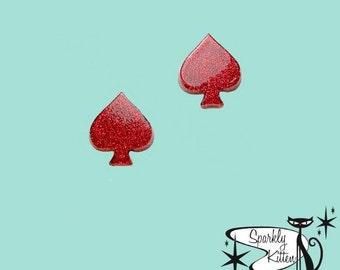 The Queen of Spades earrings