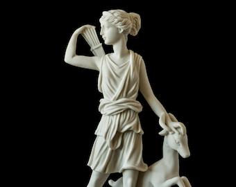 Marble Artemis Statue Greek mythology Art Handmade Statuette For Home Decor - Diana of Versailles Figurine