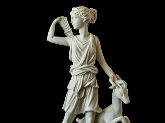 Marble artemis statue greek mythology art handmade statuette for Artemis decoration