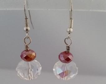 Double Crystal Earrings  E106