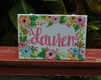 Pretty in Pink Hand-Painted Step Stool