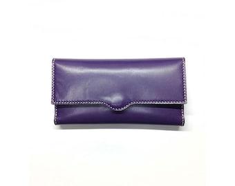 purple women wallet/women purse/wallet/purle wallet/leather wallet