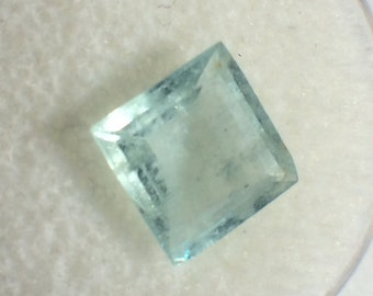 Natural Aquamarine faceted - Oval - Beryl - 9x9x4- 4.55 cts!!!